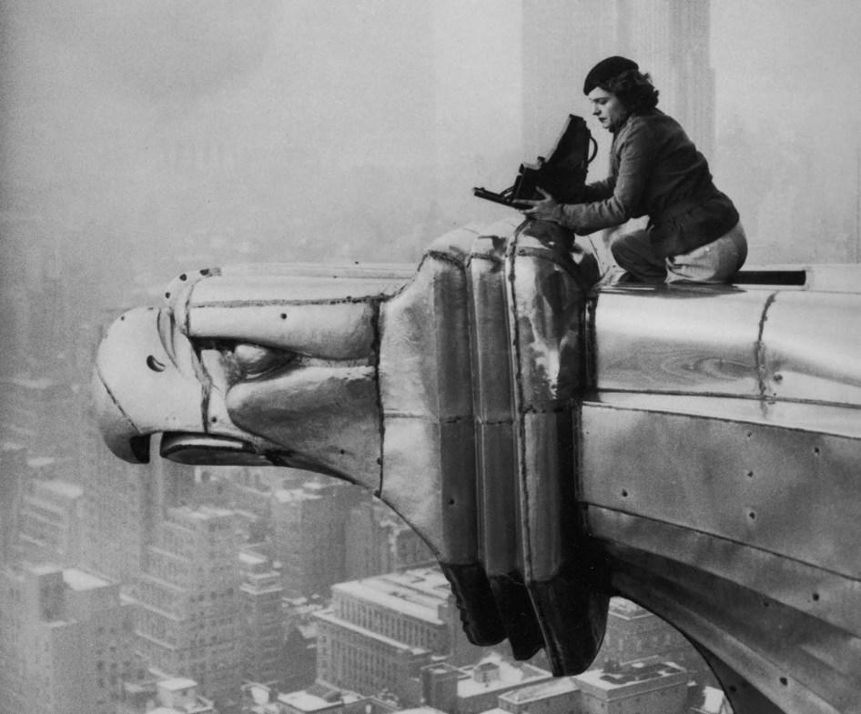 Margaret Bourke-White au sommet du Chrysler Building