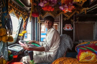 Indian Technicolor Trucks Photos