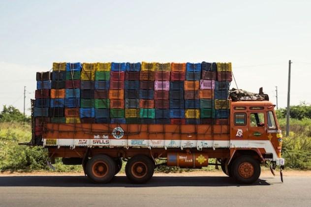 Indian Technicolor Trucks Photo
