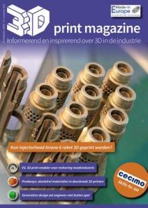 Artikel in 3D Print Magazine: Krachtenbundeling Vlaamse 3D printindustrie
