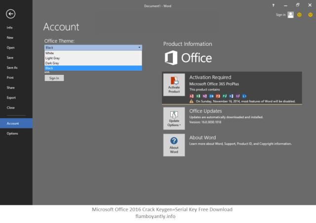 Microsoft Office 2016 Crack Keygen+Serial Key Free Download