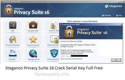 Steganos Privacy Suite 16 Crack Serial Key Full Free Download