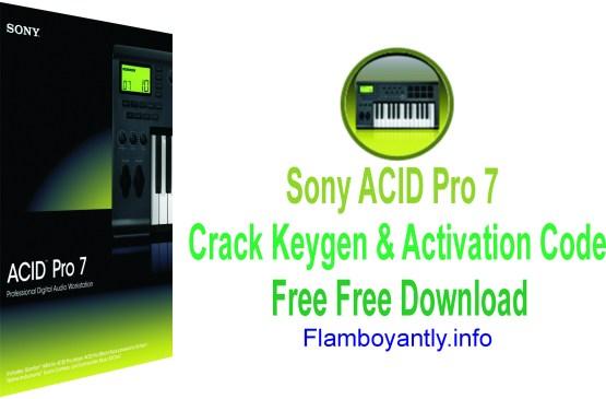 Sony ACID Pro 7 Crack Keygen & Activation Code Free Free Download