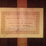 Etiqueta firmada guitarra Hermanos Conde