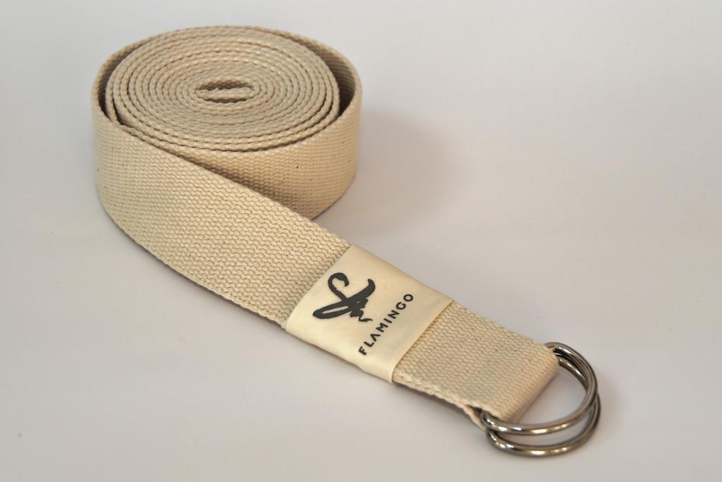d-ring strap natural