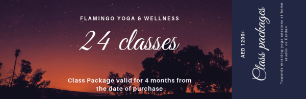 24 sessions Group yoga class