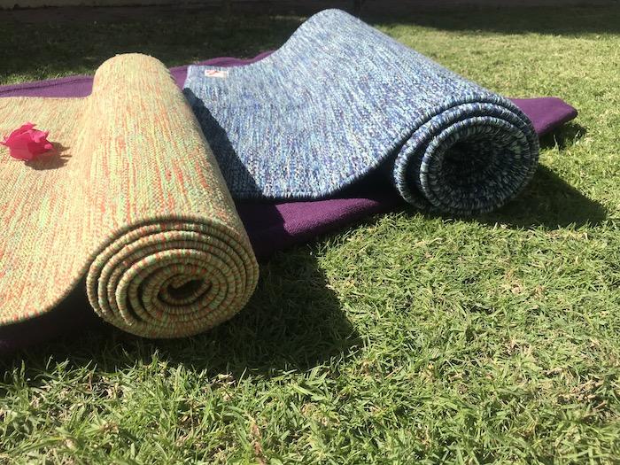 Flamingo handwoven yoga mats