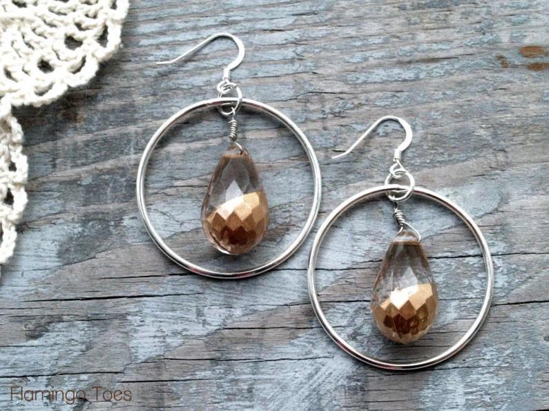 Gold Dipped Hoop Earrings