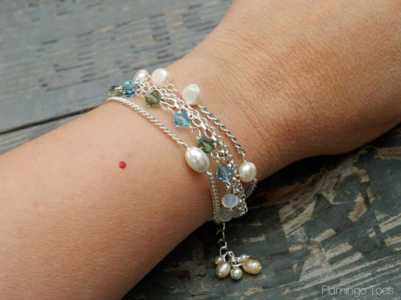 Bead and Chain Bracelet (2)