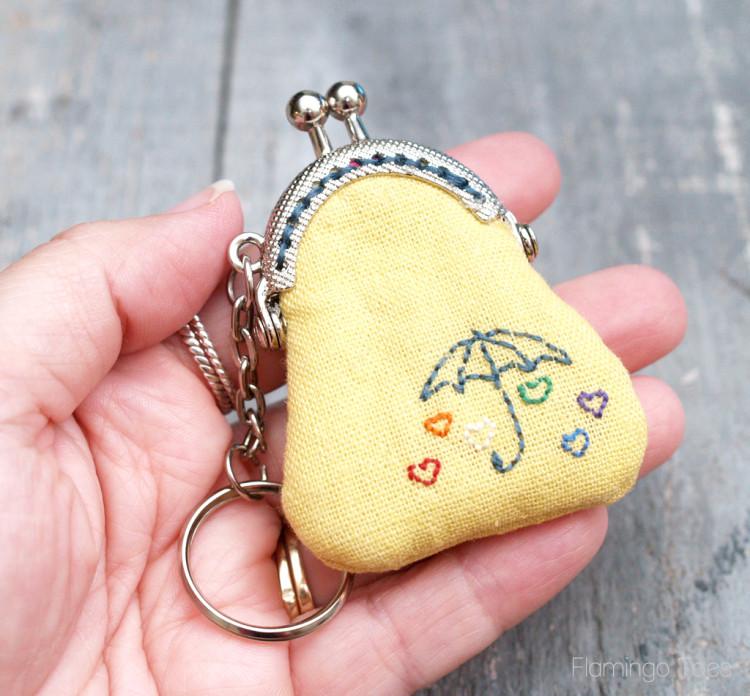 Tiny Keychain Coin Purse