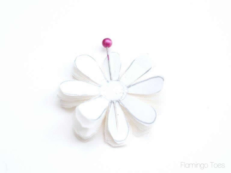 chiffon flower pieces