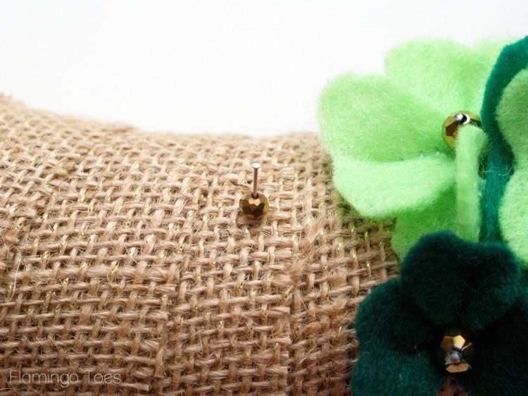 Gold Bead Pins