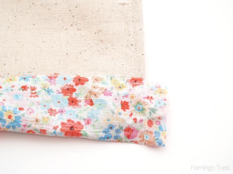 sides of fabric trim