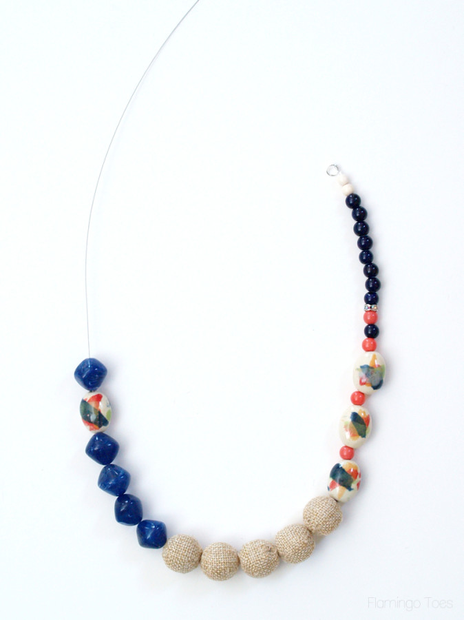 Large Beads on Necklace