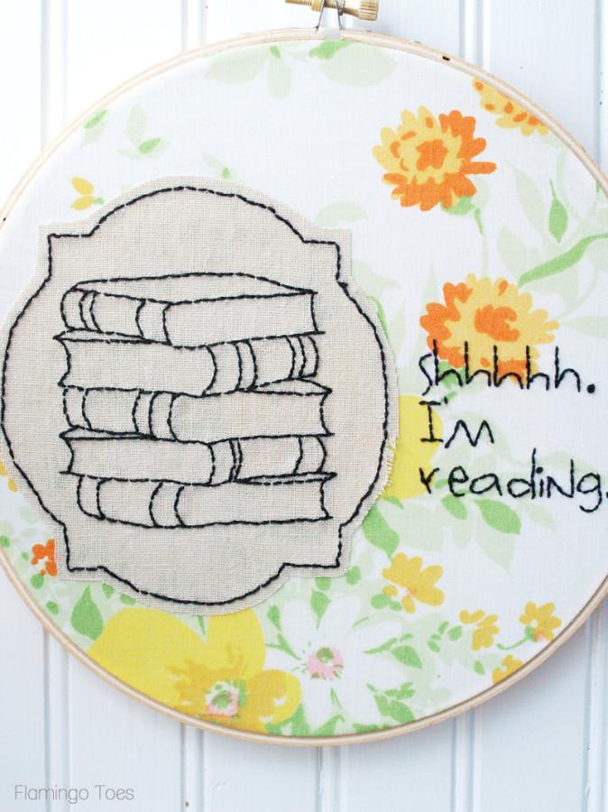 Book Lover Hoop Art