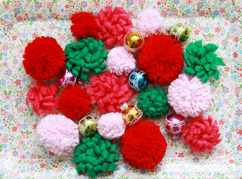 Felt Flowers and Pom poms