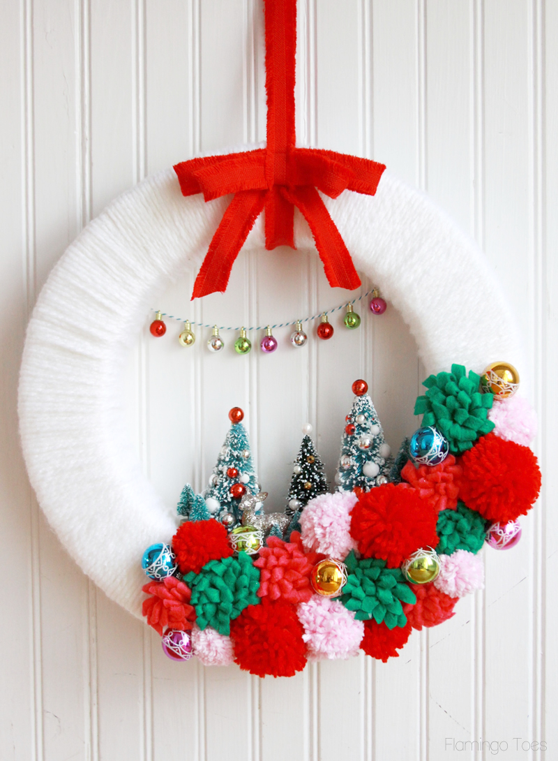 Retro Style Christmas Wreath