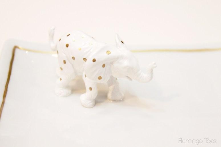 Gold-Polkadot-Elephant