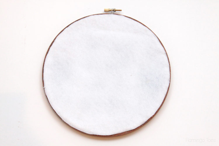 Felt-Backing-on-Embroidery-Hoop