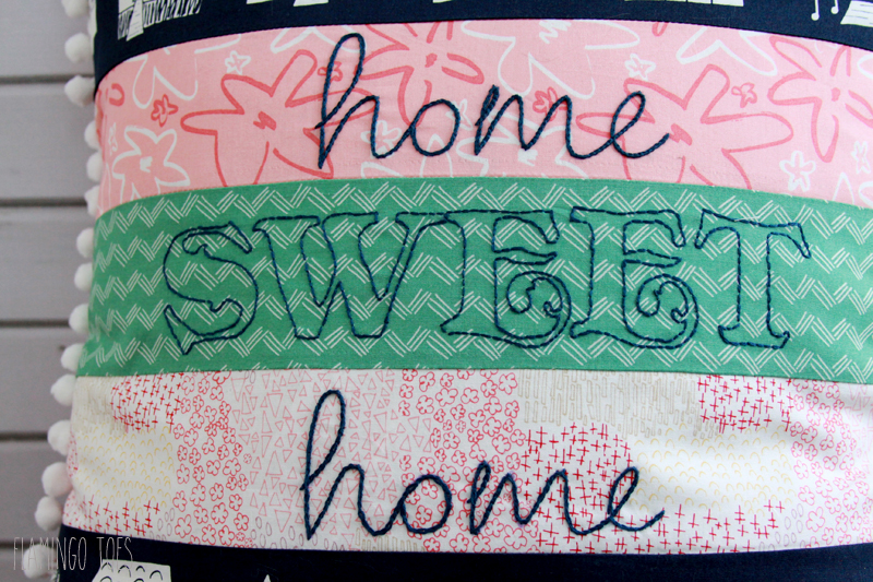 Easy Embroidered Pillow