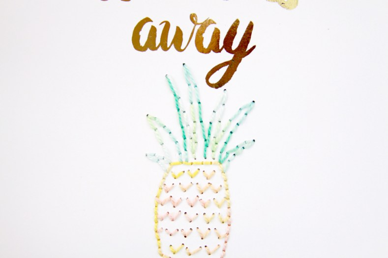 Stitched Pineapple Leaves