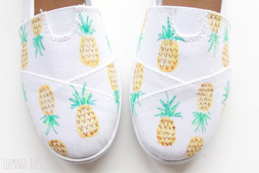 Symmetrical designs on shoes