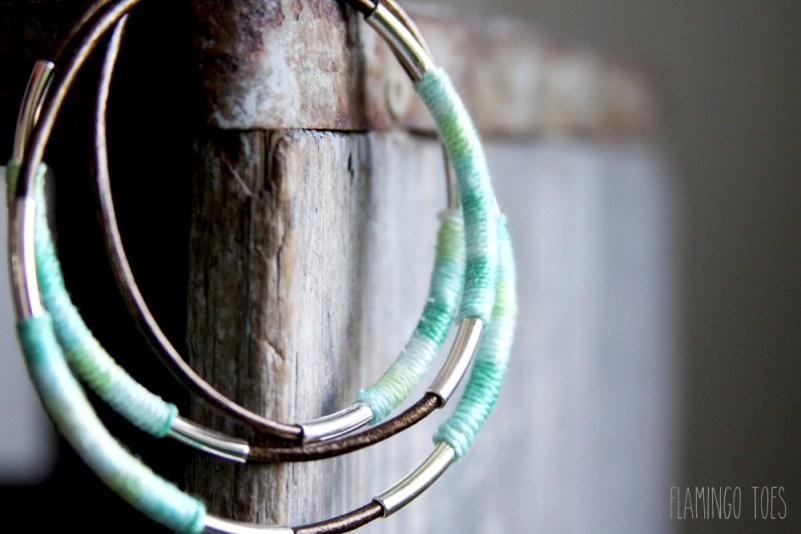 Thread and Metal Wrap Bracelet