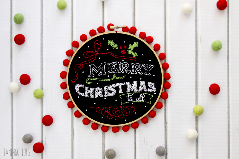 Merry Christmas To All Hoop Art