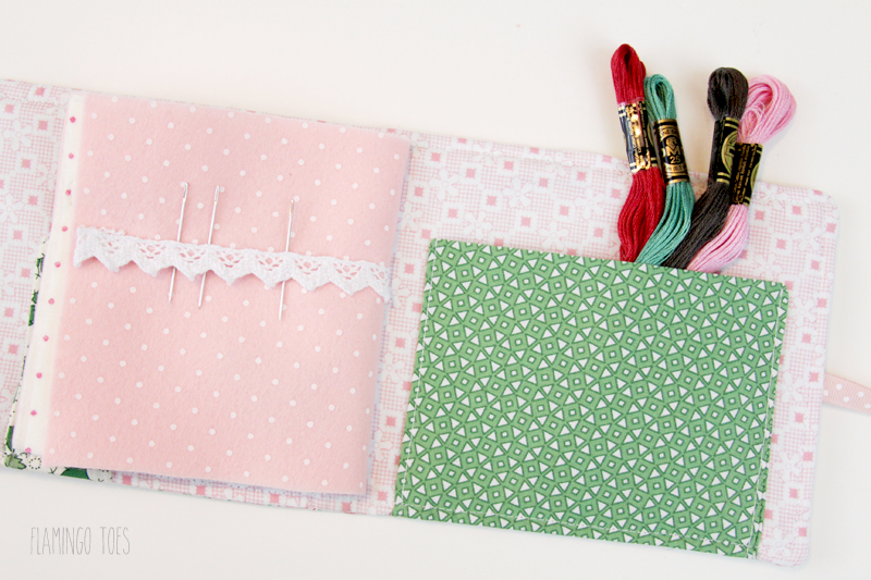 Needle book pages