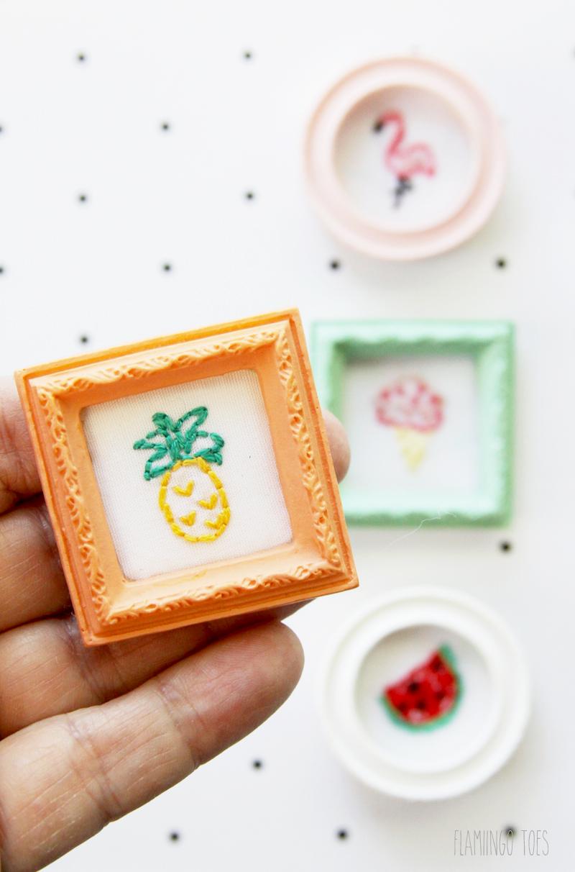 Mini Framed Embroidery