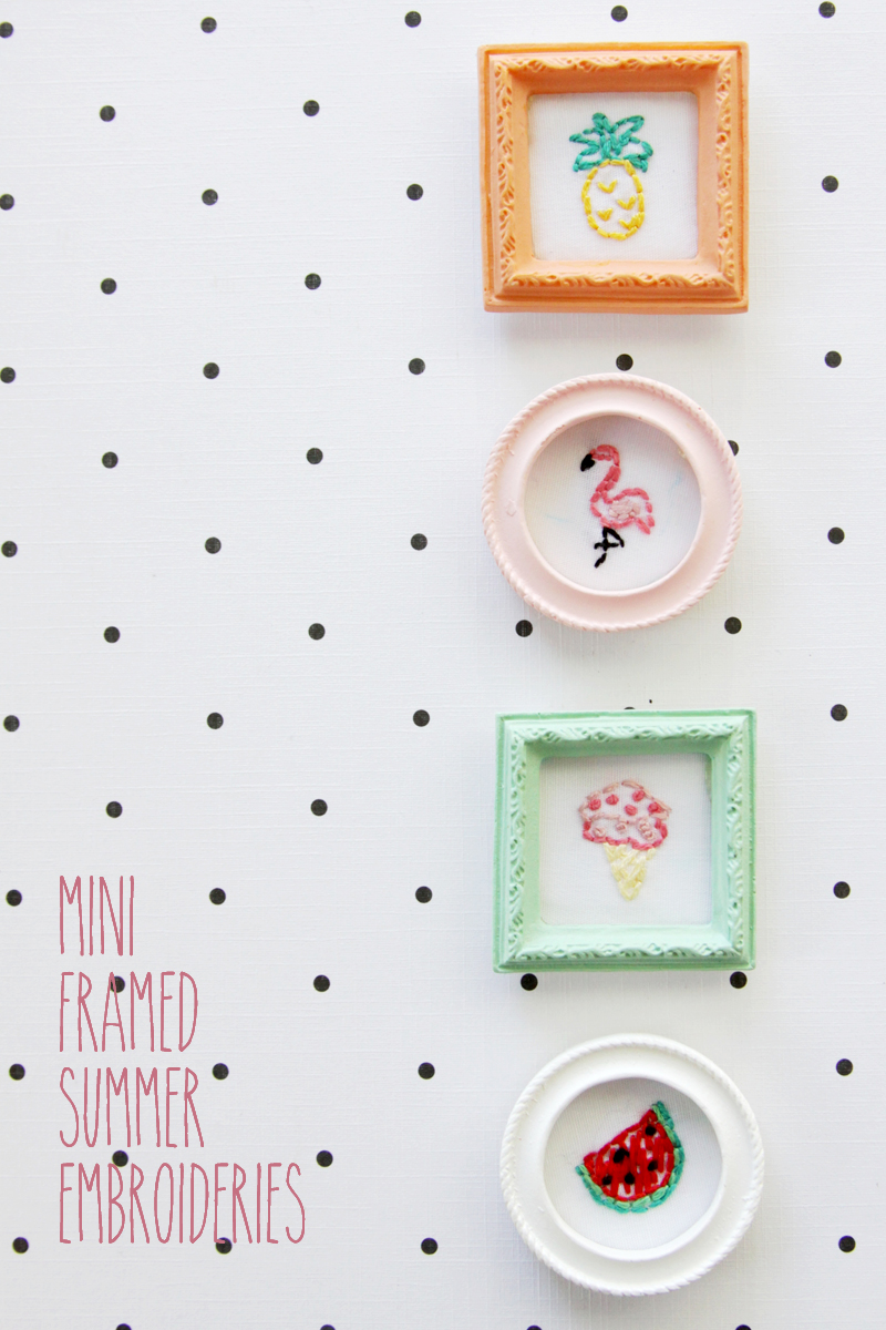 Mini Framed Summer Embroideries