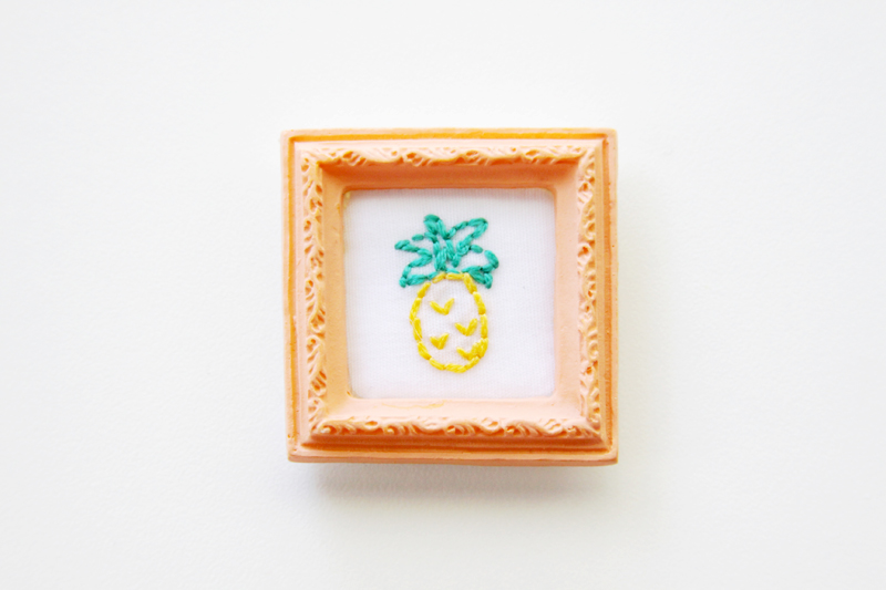 Mini Pineapple Embroidery
