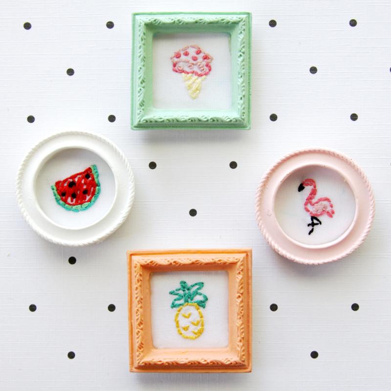 Sweet Little Framed Embroidery