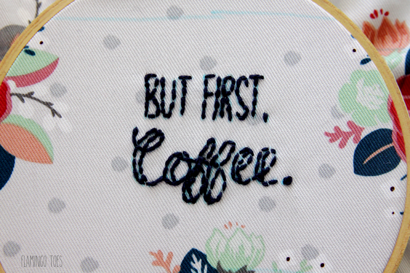 But First Coffee Embroidery