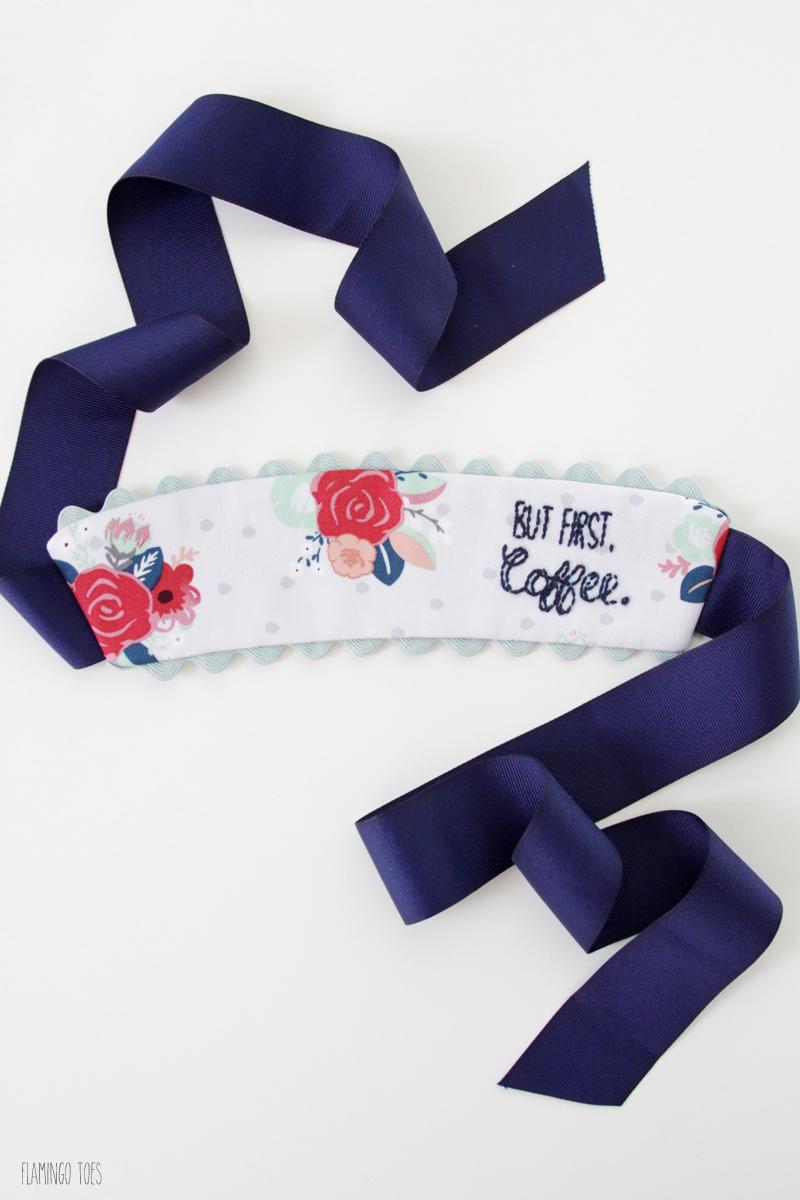 Fabric and Ribbon Mug Cozy