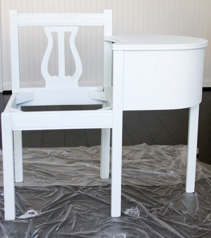 Milk Paint Coverage on Bench