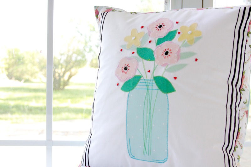 Mason Jar Pillow To Sew