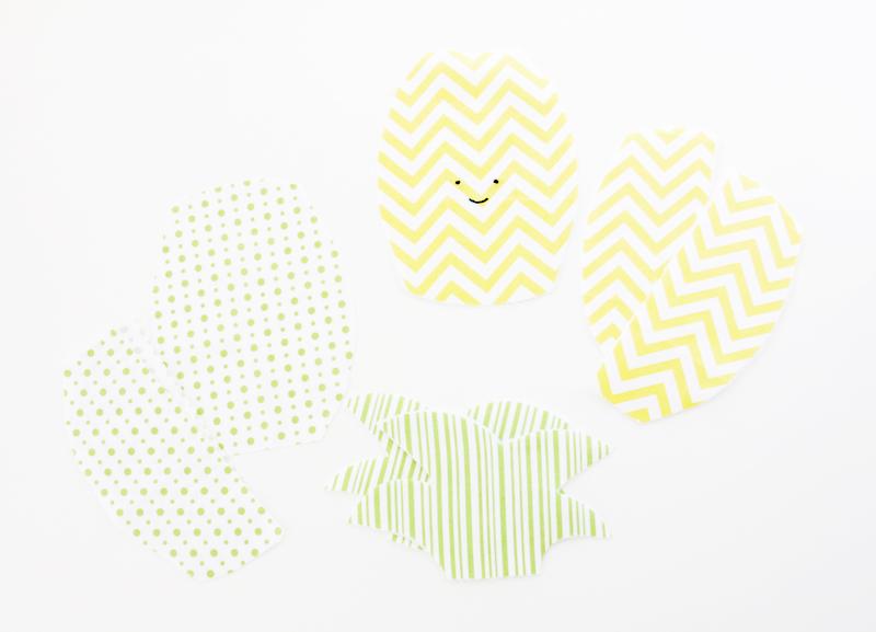 Pineapple Zipper Pouch Pieces