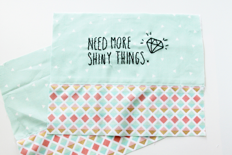 Front and Back of Zipper Pouch