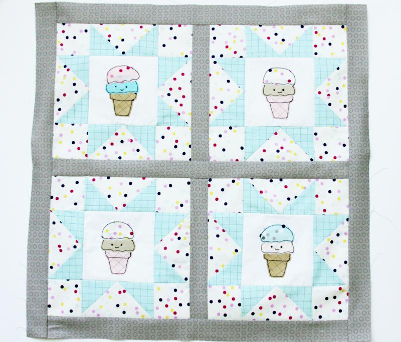 ice-cream-mini-quilt-sashing