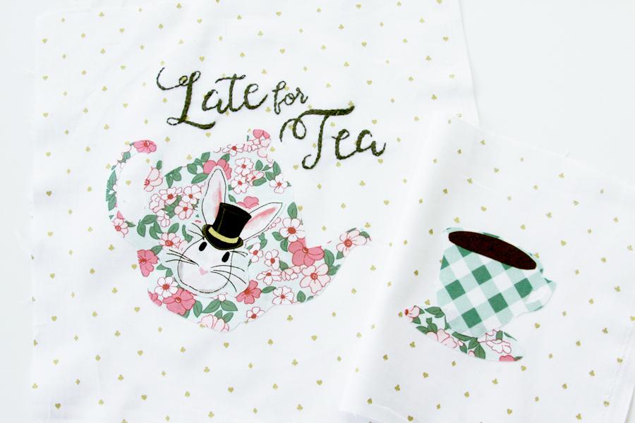 Late for Tea - Wonderland Embroidery Hoop Set