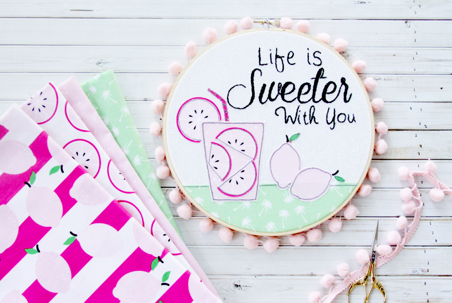 Life is Sweeter With You Hoop Art