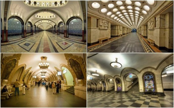 Various Moscow Metro Stations, Russia Tour Packages From Gujarat-India