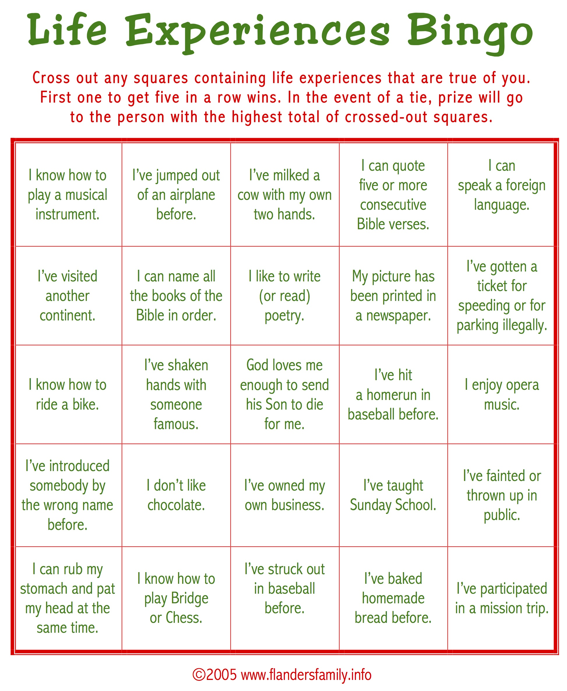 Ice breaker bingo free printable flanders family homelife - One of your students left their book on the table ...