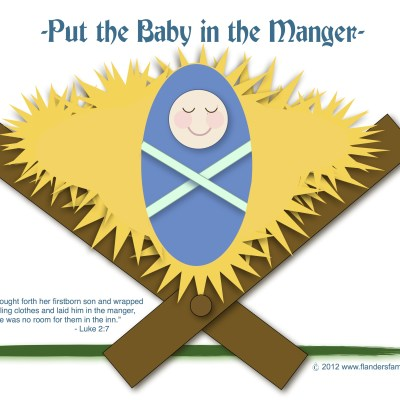 Put the Baby in the Manger (Free Printable)