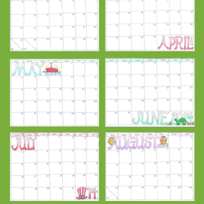 2014 Scrapbooking Calendars