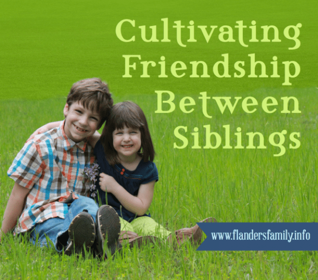 How do you encourage siblings to be friends? Here's what works in our family (www.flandersfamily.info)