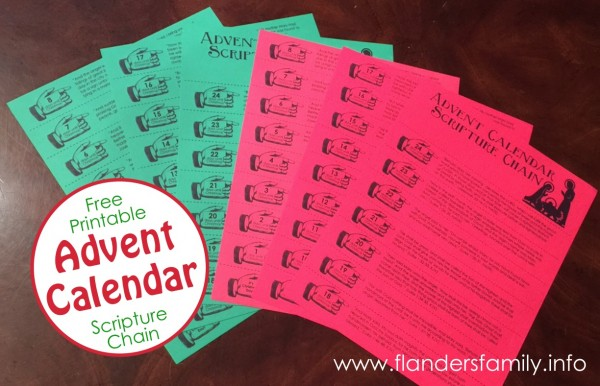 Advent Christmas Chain Free Printable
