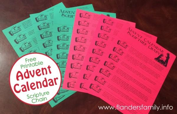 advent christmas chain  free printable