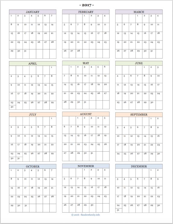 year at a glance calendar template year at a glance calendar